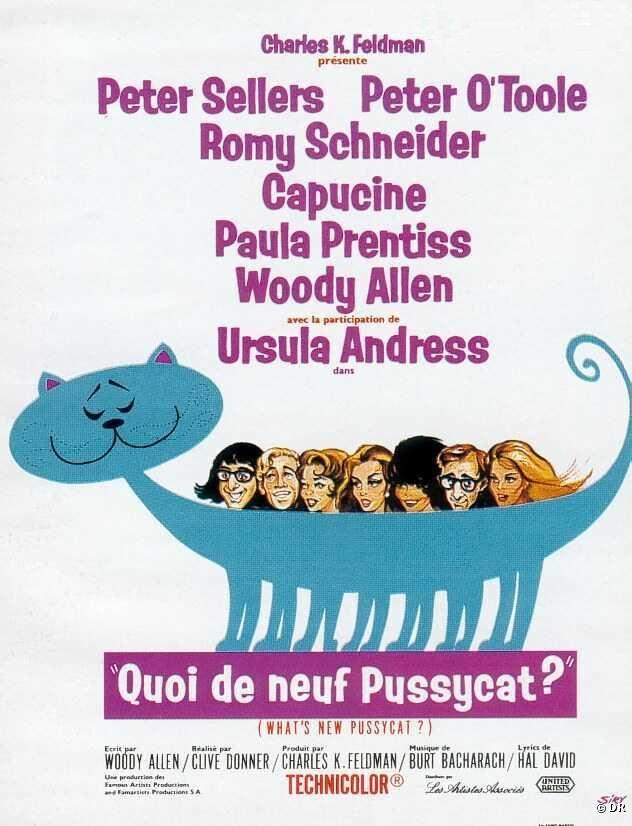 """""""Qoui de neuf pussycat?"""" (""""What's new pussycat?"""") de Clive Donner, programmé le 09/08 à 21h30  http://www.forumdesimages.fr/les-films/les-programmes/cinema-au-clair-de-lune-2015/quoi-de-neuf-pussycat-whats-new-pussycat"""