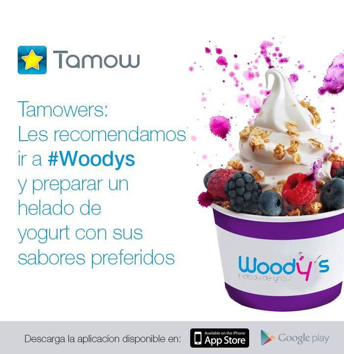 Una #Recomendación para que se consientan con un delicioso postre en Woodys Helado de Yogurt