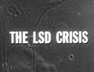 "THE LSD CRISIS 1966 documentary on DVD. This film was made before LSD was criminalized in the United States. It features some of the best footage of Timothy Leary and his students at the Millbrook, NY estate taking LSD and discussing its effects. Also featured are Richard Alpert and Ralph Meltzner. Leary says, ""Statistics show that taking LSD is no more dangerous than signing up for a four year course at Harvard College."""