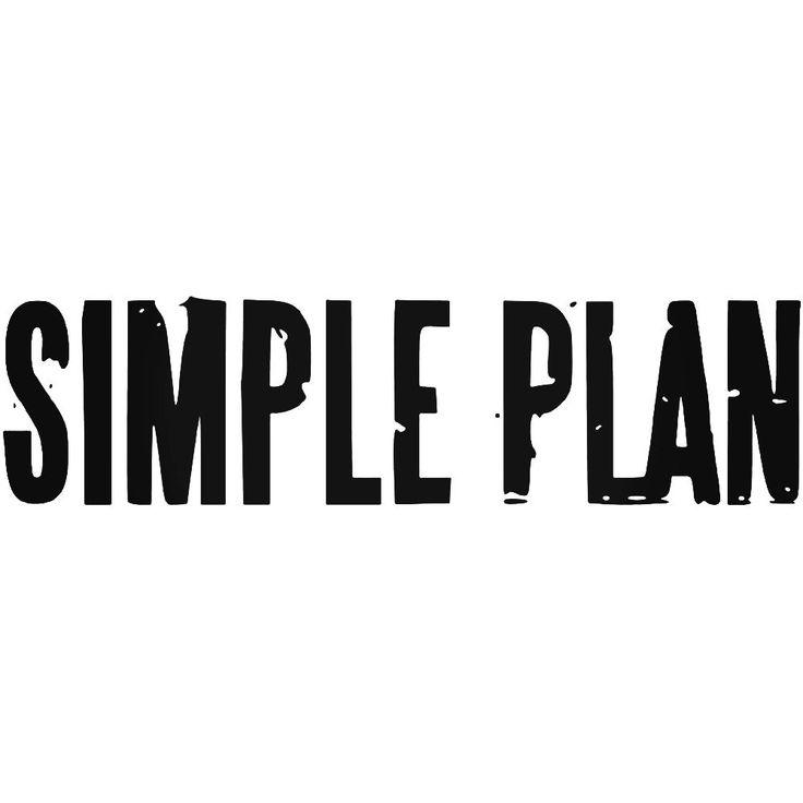 Simple Plan Rock Band Logo Vinyl Decal Sticker  BallzBeatz . com