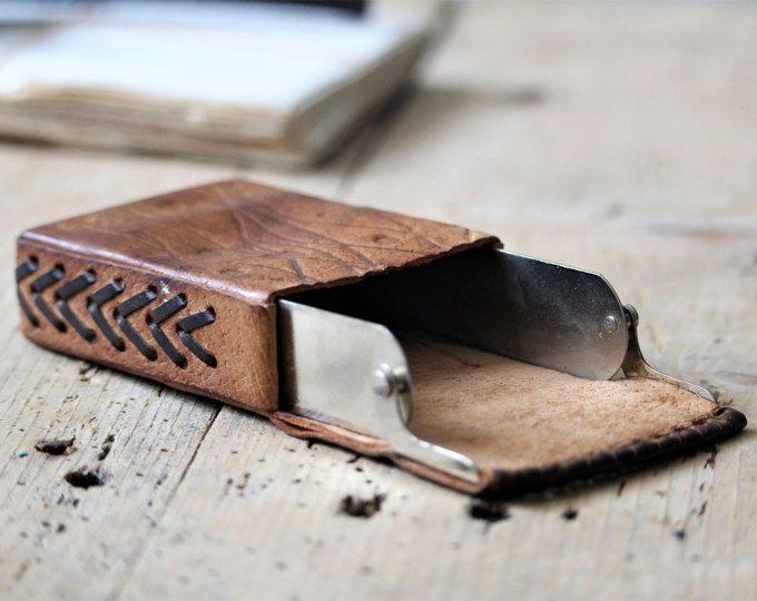 Cigarette Case - Handmade Cigratte Case - Business Card Case - Vintage Cigarette Holder - Brown Leather Cigarette Case Holder