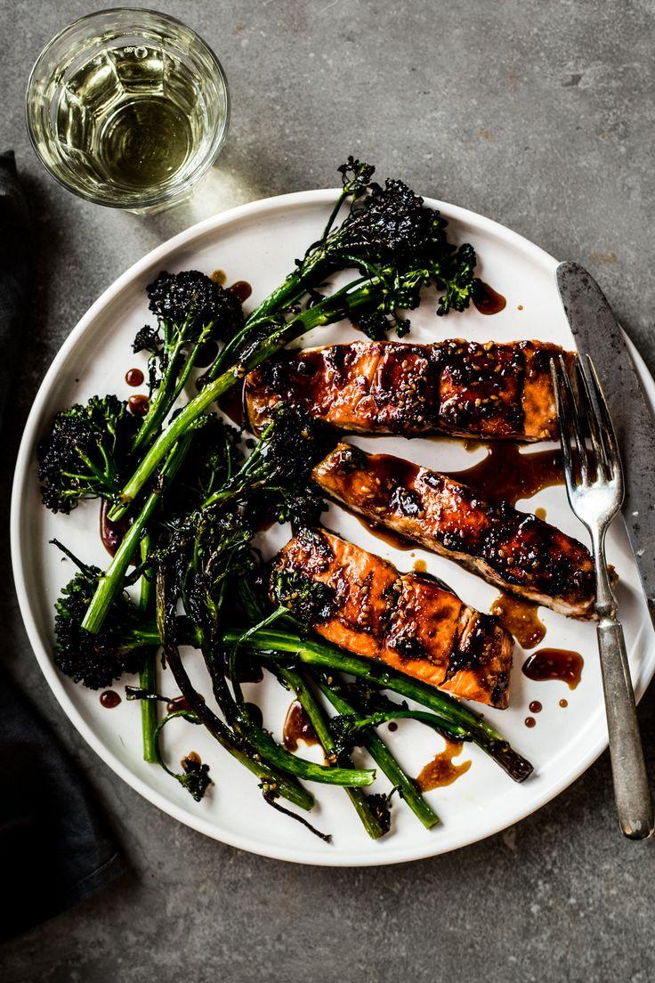 Teriyaki Salmon with broccoli rabe