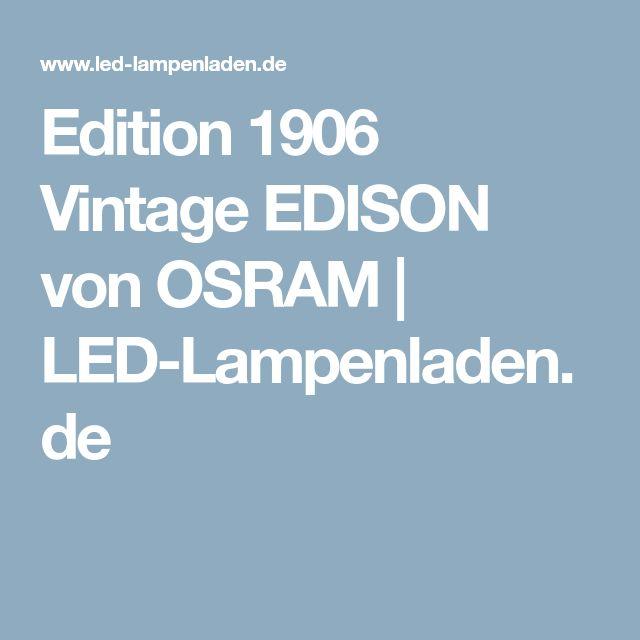 Edition 1906 Vintage EDISON von OSRAM | LED-Lampenladen.de
