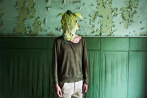 Green mask, from The silence is here again tonight, 2015