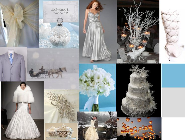 Wonderful Day Weddings: A White Winter Wedding (And Blue, and Silver)