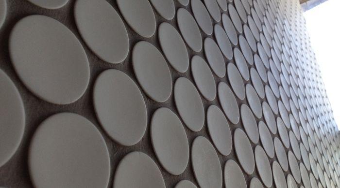 Jumbo White Pennyround Mosaics http://www.surfacegallery.com.au/tiles/mosaic-tiles/jumbo-white-penny-round-mosaics #whitepennytiles #pennymosaics #whitetiles #whitemosaics #bathroommosaics