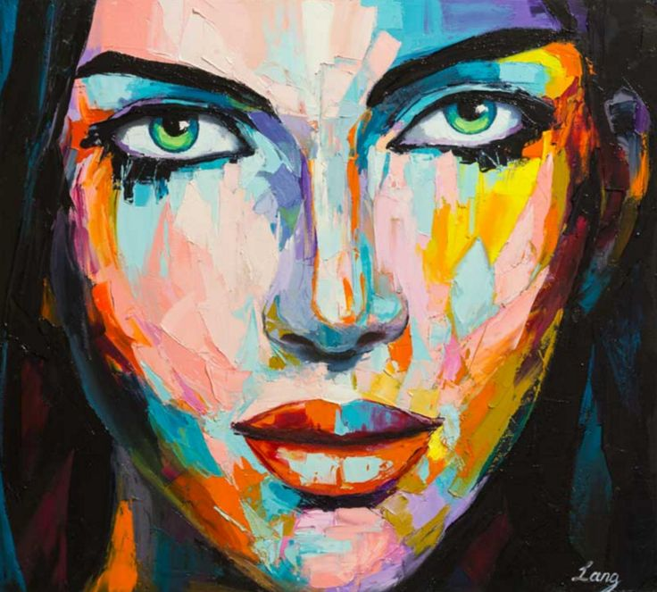 FINEARTSEEN - Esmeralda by Lana. An original pop art portrait in oil. This beautiful vibrant portrait painting will add colour to your space. Available on FineArtSeen - The Home Of Original Art. << Pin For Later >>