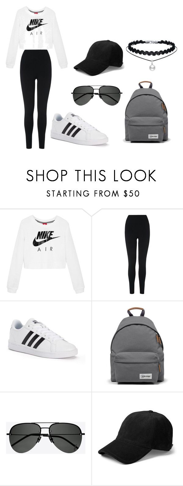 """j"" by cipherlyfe on Polyvore featuring NIKE, L.K.Bennett, adidas, Eastpak, Yves Saint Laurent and rag & bone"