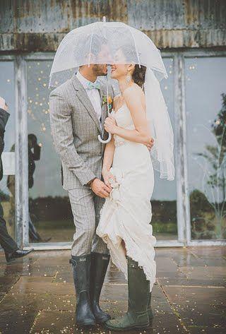 Rainy Wedding Photos : Brides.com