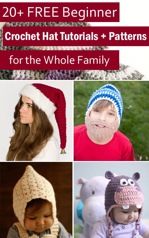 Beginner Crochet Hat Tutorial : 20+ FREE Beginner Crochet Hat Tutorials + Patterns for the ...