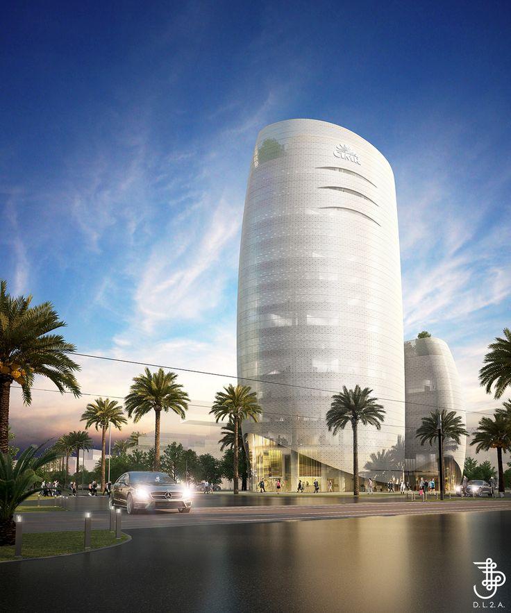 Futur siège de la Caisse Interprofessionnelle Marocaine de Retraite à Casa Anfa, Casablanca .DL2A, IGH, TOUR