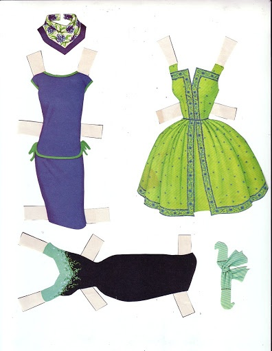 Barbie Doll ☮ I use to cut these out of the Sunday newspaper and the paper doll also, then dress it up  all paper stuff.