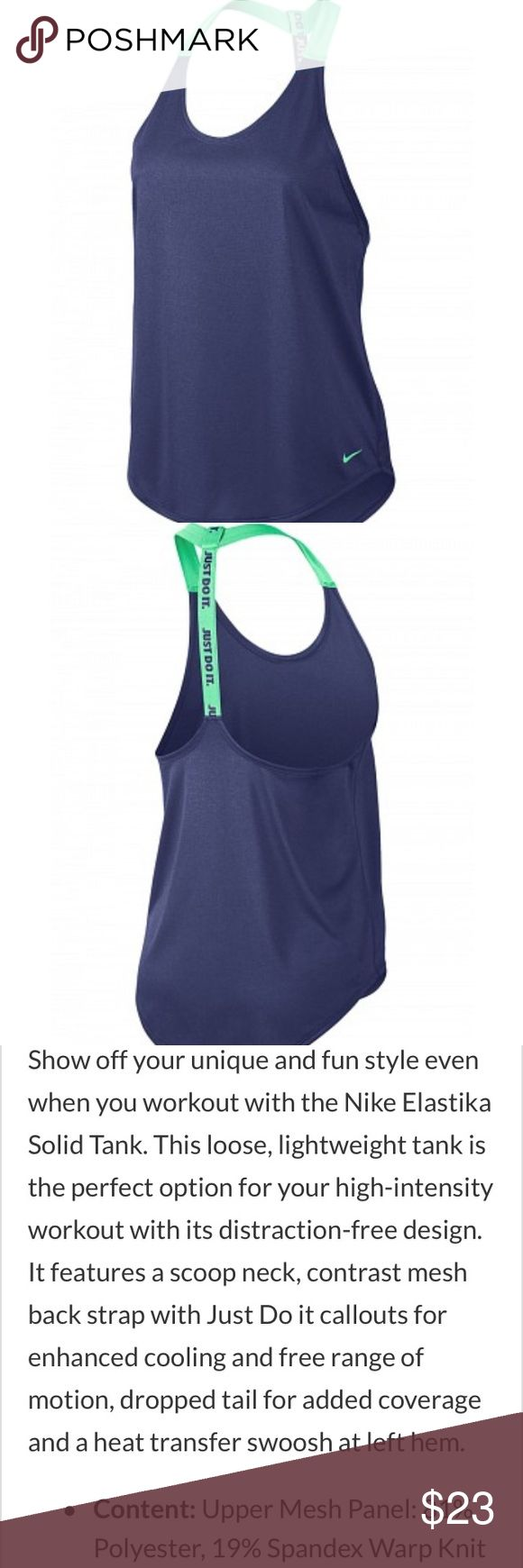Nike women's winter Elastika tank top Brand new with tags. Color: dark purple dust w/green glow (508) Nike Tops Tank Tops