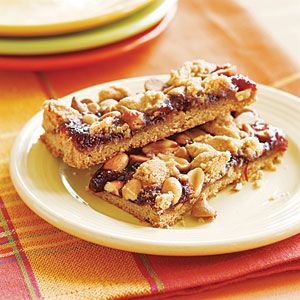 Peanut Butter and Jelly Bars | MyRecipes.com