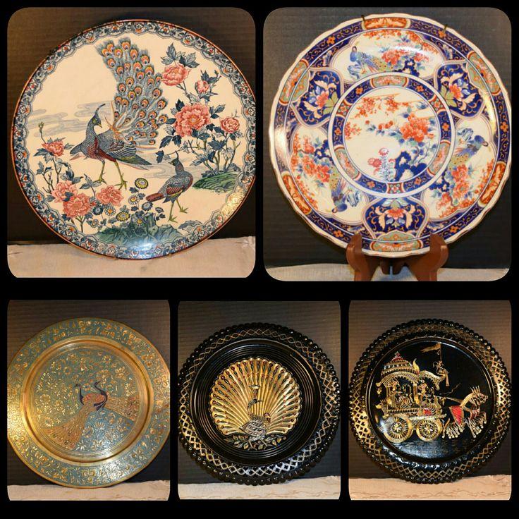 Gorgeous Asian Decorative Plates at ShellysSelectSalvage.com