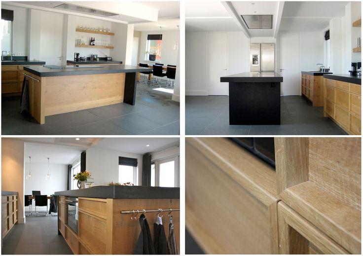 Keuken Van Eikenhout : van beton wit mooi strak en toch een stoer aanrechtblad van