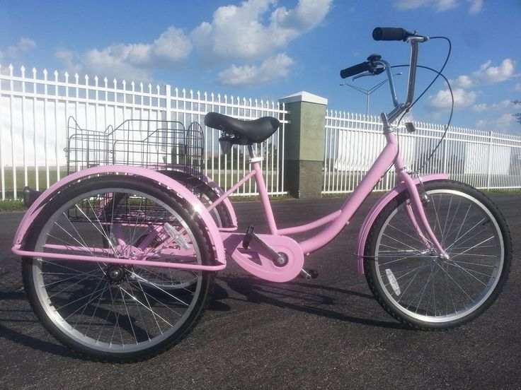 "6 SPEED ADULT TRICYCLE, HOT PINK! 3 WHEEL BICYCLE, BRAND NEW, 24"", HIGH QUALITY! #USACycleCo"