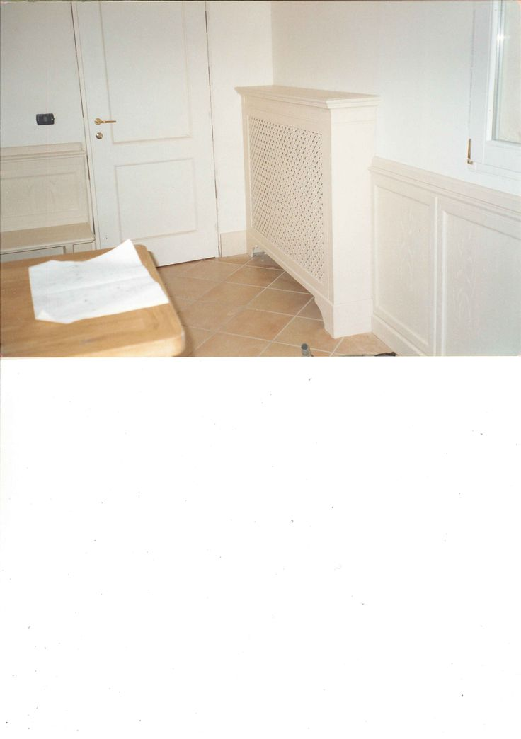 kitchen with boiserie and radiator cover