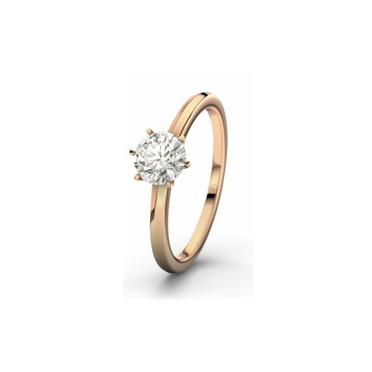 Pin for Later: Verlobungsringe aus Rotgold sind echte Multitalente  Quebec Diamantring aus 585er Rotgold, Diamant: 0.5 Karat (ursprünglich 2.708 €, jetzt 2.282 €)