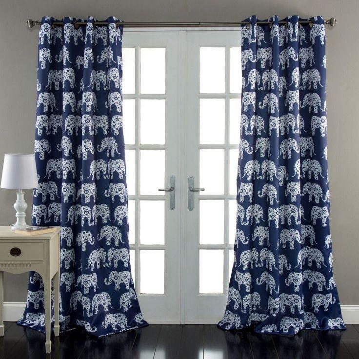 lush decor elephant prade room darkening window curtain pair look for the elphant parade collection
