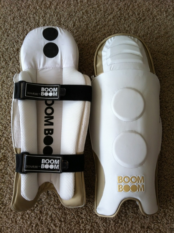 Cricket Store Online 1.888.470.4746 - 2012 Boom Boom Signature Wicket keeper pads, $59.99 (http://www.cricketstoreonline.com/2012-boom-boom-signature-wicket-keeper-pads/)