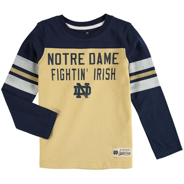 Notre Dame Fighting Irish Preschool Legacy Long-Sleeve Football T-Shirt - Navy - $21.99