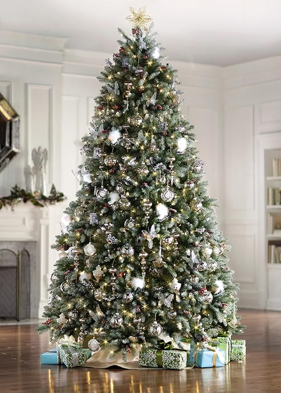 dunhill fir prelit artificial christmas tree 9 ft u2013 home decorators - Prelit Christmas Tree
