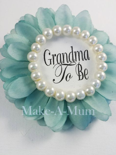 Personalize Tiffy Blue Mint Girl Boy baby shower favor Baby Shower Corsage Mommy To be Pin Grandma To Be, tIFF/pearl, Gtb