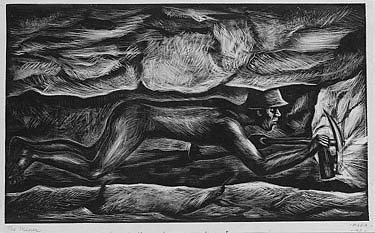 Artwork by Francisco Mora, THE MINER