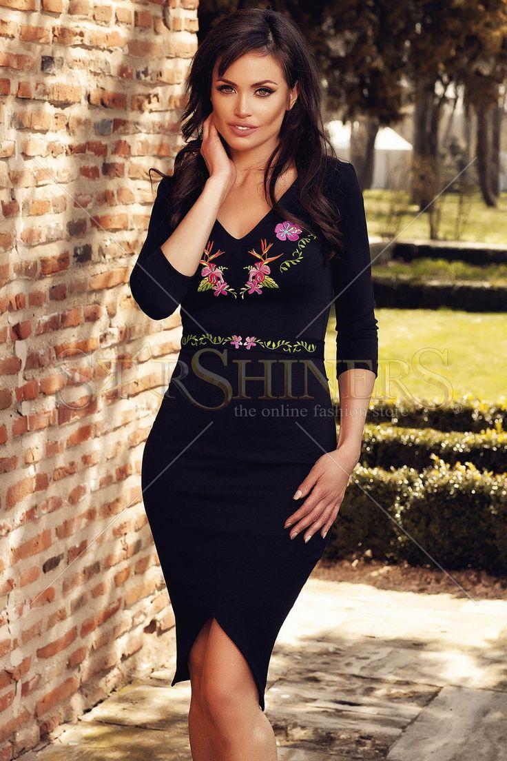 StarShinerS Brodata Paradise Black Dress