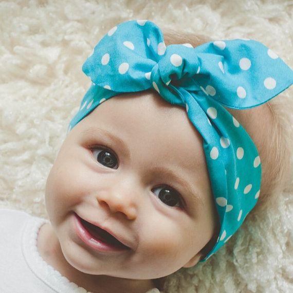 Baby bow headband baby girl headband Anniston by ElleBelleBliss