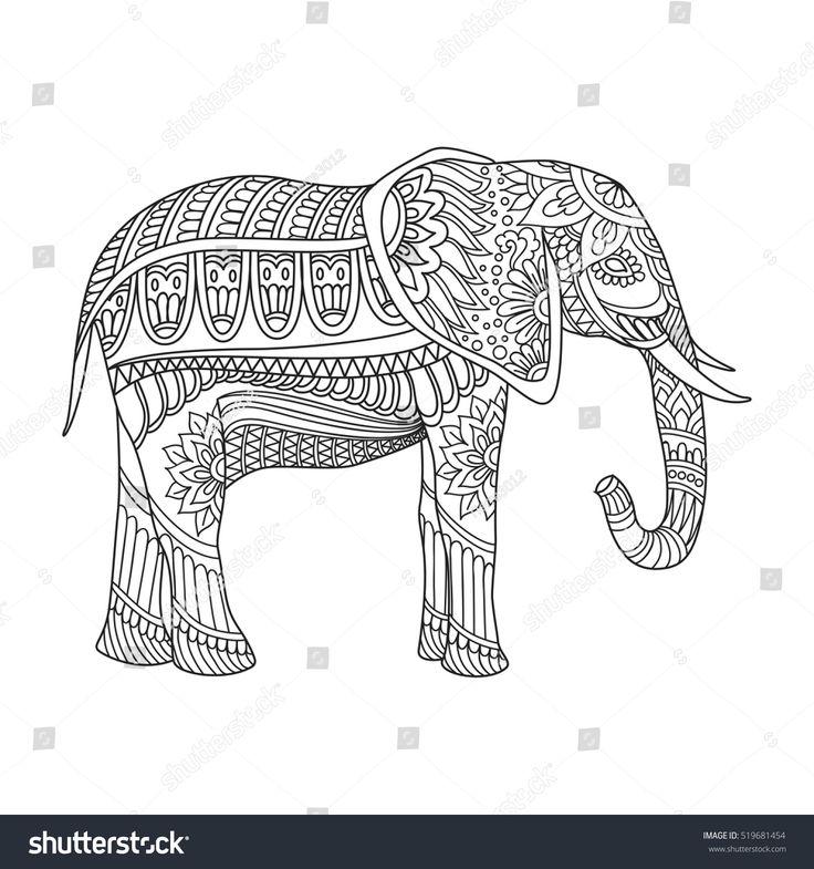 Großzügig Malvorlagen Des Indischen Elefanten Zeitgenössisch - Entry ...
