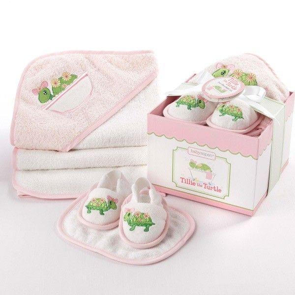 23 best cadeaux naissance pour le bain images on pinterest baby tillie the turtle four piece bathtime gift set personalization avai negle Choice Image
