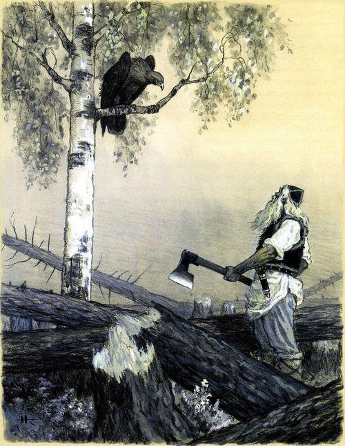 How Vainamoinen was Born by Nicolai Kochergin. Kalevala