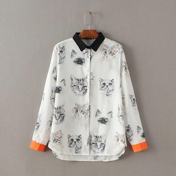 #aliexpress, #fashion, #outfit, #apparel, #shoes #aliexpress, #printing, #women, #blouse, #black, #orange, #color, #chiffon, #shirt, #sleeves, #female, #fresh, #sweet, #blouse, #shirt