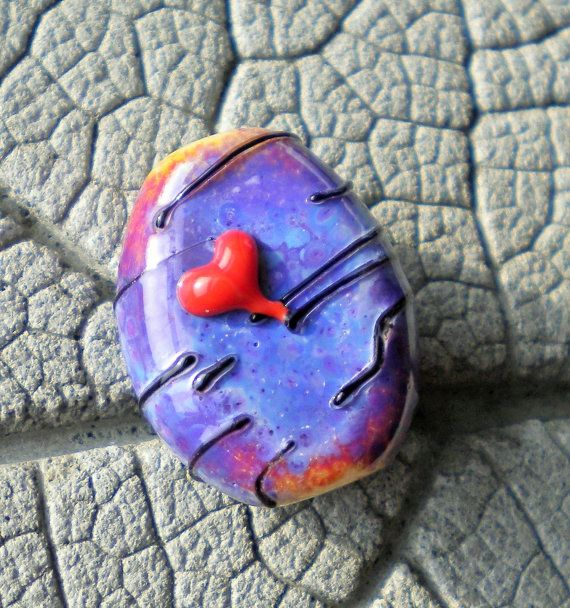 reserved for livilubaby purple love with z99 barrel focal lampwork bead by cherie sra r114 flameworked glass bead