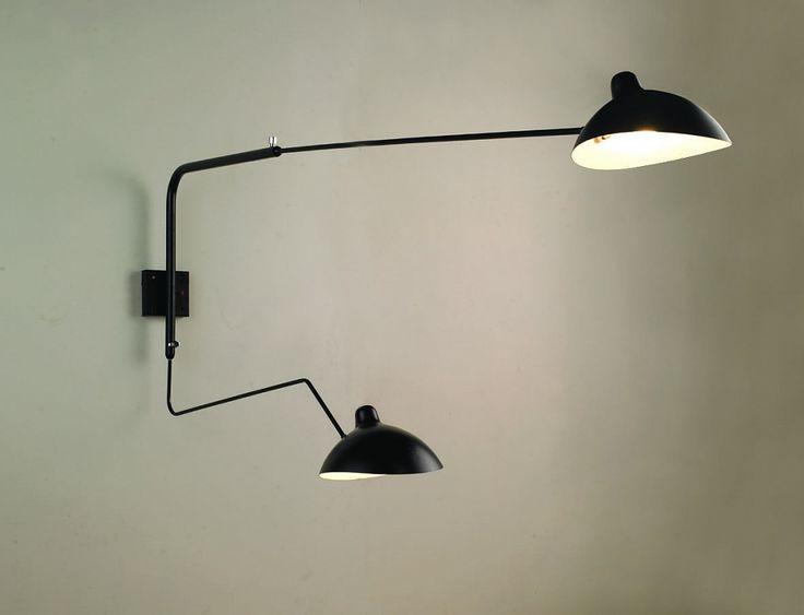 Serge Mouille wall lamp 2 Arms   Lampe, Wandlampe