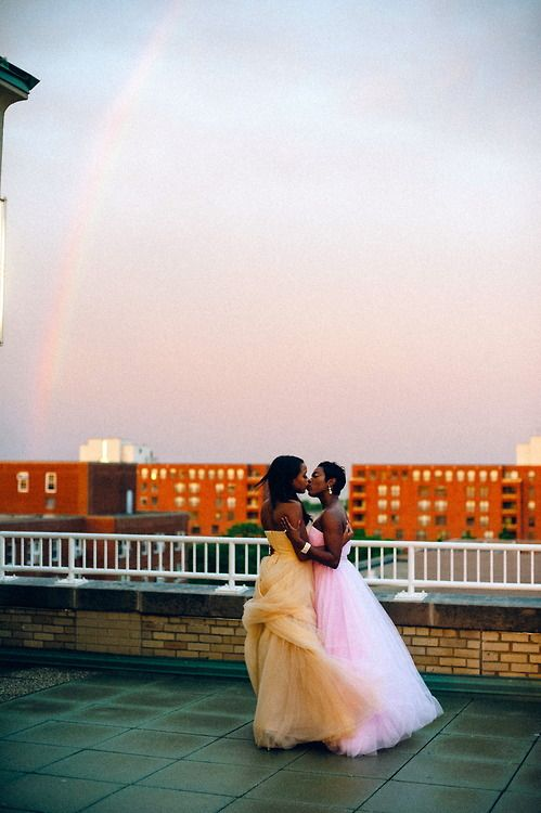 fuckyeahdykes:  A Perfect Rainbow on our Wedding Day  submitted...