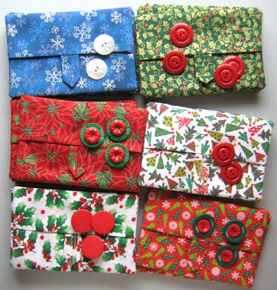 christmas crafts to sell | Tissue cozies waiting for buttons.