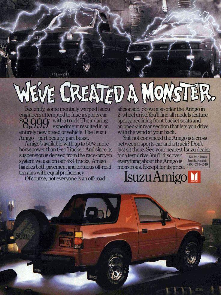 1989 Isuzu Amigo Ad