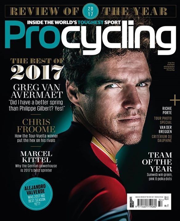 Procycling's annual review of the year is now available in UK shops, featuring the Classics rider of the year Greg Van Avermaet on the cover.  Van Avermaet gives the impression that he is a rider whose time has come. The breadth of his talent was never in dispute – he spent much of the last decade achieving high placings in just about every major one-day race on the calendar. Winning, however, was a different matter. But his wins in Omloop Het Nieuwsblad and the Olympic road race in 2016…