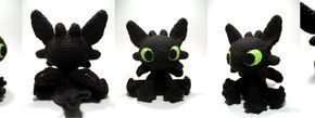 Here is my free patter n for my Toothless amigurumi -- while I designed and created everything in this photo, the instructions for the wings...