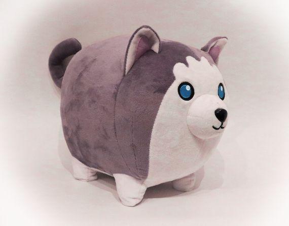 Aphmau Wolf Plush Teespring Campaign Wolf Plush Sewing Stuffed Animals Cute Stuffed Animals
