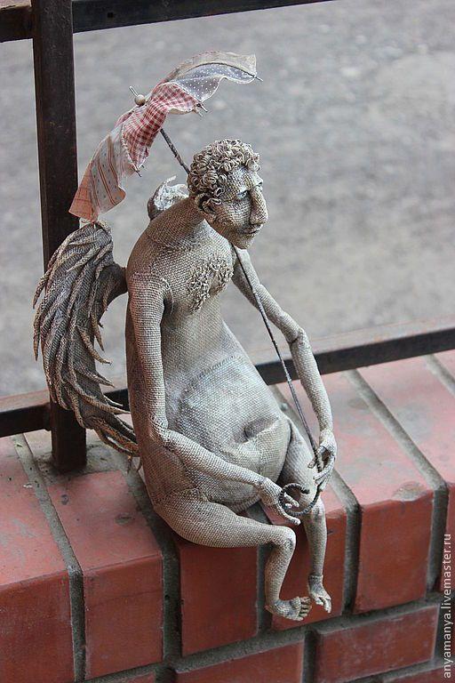 Купить не лётная погода... - ангел-хранитель, ангелочек, авторская ручная работа, авторская кукла, зонтик