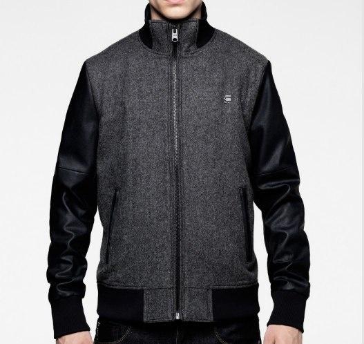 Varsity jacket van G-Start (zwart). Een klassieker in een modern G-Star jasje. Zwart varsity jacket, een should have.