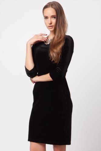 Elbise - Kadife Elbise