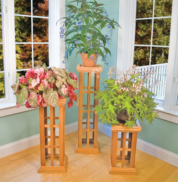 Best 25 wooden plant stands ideas on pinterest wooden for Herb stand ideas