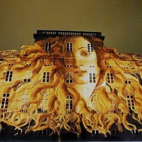An homage to Botticelli in Lyon, France.