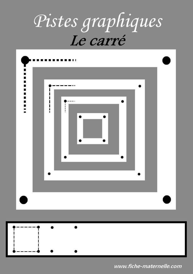 Des pistes graphiques à plastifier pour apprendre à écrire : le carré