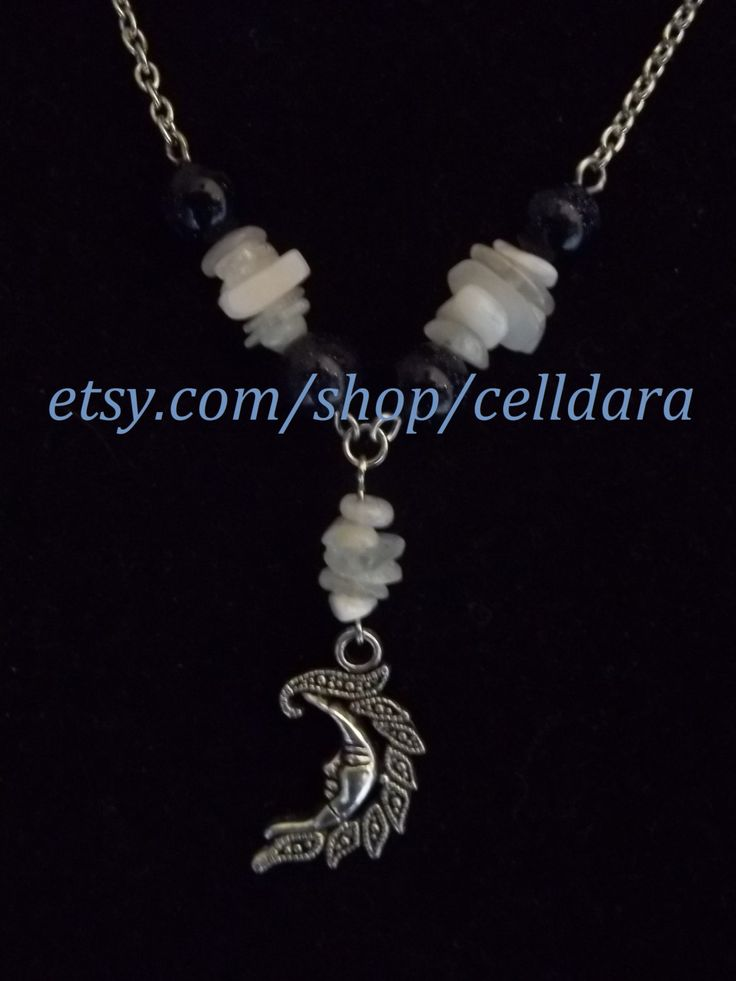 Moon Lover Necklace by CellDara on Etsy